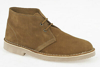Mens Suede Leather Lace Up Desert Style Ankle Boots UK Size 9