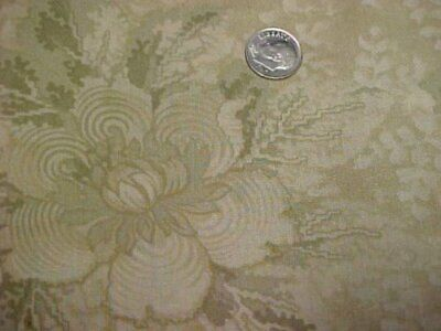 5 Yd Cotton Fabric Quilt Shop Cotton Material Moda GREEN Floral Sew Craft Estate