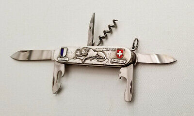 Victorinox Spartan Swiss Army Knife, Carved Stainless Steel, Lion of Lucerne NEW