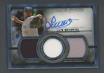 2019 Topps Museum Collection Luis Severino Triple Jersey AUTO 92/149 Yankees