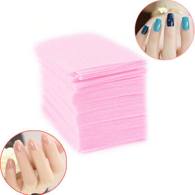 Nail Polish Remover Cleaner Manicure Wipes Lint Free Cotton Pads Paper Nai FG