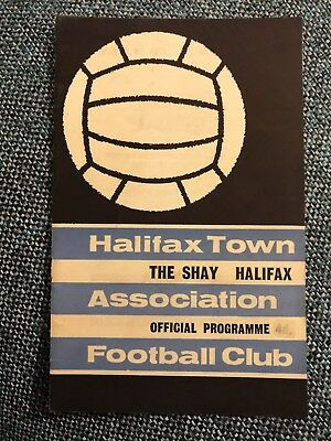 Halifax Town v. Doncaster Rovers League Division 4 1965 / 1966