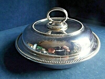 """SUPERB Large 10"""" ~ SILVER Plated ~ Ornate SERVING DISH ~ c1900 by William Hutton"""