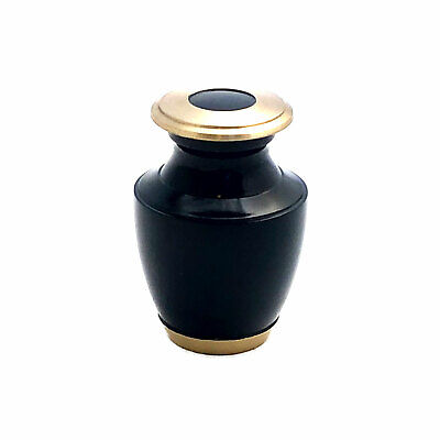 Well Lived® Small Brass Navy Blue  Keepsake Cremation Urn for human ashes