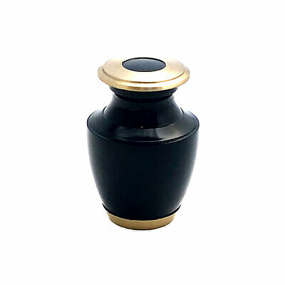 Well Lived™ Small Brass Navy Blue  Keepsake Cremation Urn for human ashes