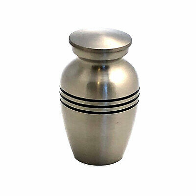 Well Lived® Small Brass Matt Sliver Keepsake Cremation Urn for human ashes