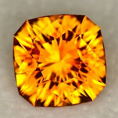 CUSTOM CUT - 3.61ct - ORANGE CITRINE - BRAZIL - WATCH THE VIDEO
