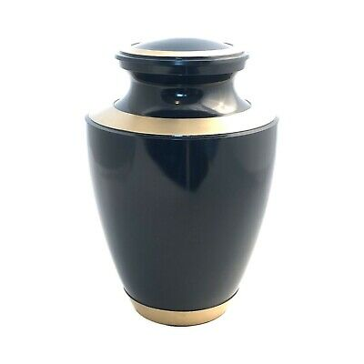 Well Lived™ Brass Navy Blue Adult Cremation Urn for human ashes