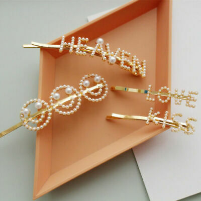 Women Hair Accessories Pearl Barrette Hair Clip Slide Grip Hairpin Headdress New