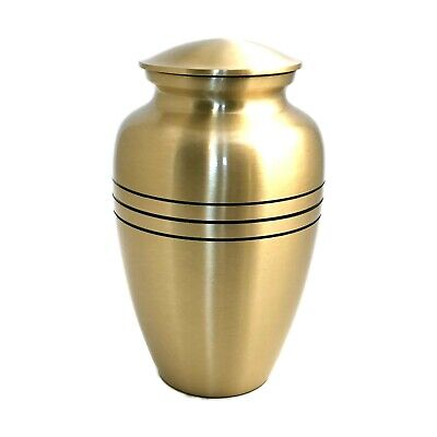Well Lived® Brass Engraved Band Adult Cremation Urn for human ashes