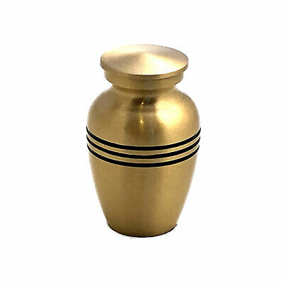 Well Lived™ Small Brass Engraved Band Keepsake Set of 4 Cremation Urn