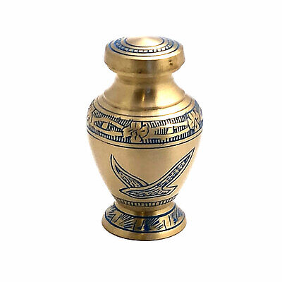 Well Lived® Small Brass Birds Flying Keepsake Cremation Urn Set of 4