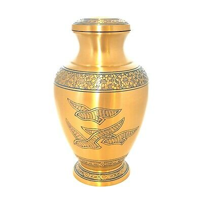 Well Lived™ Brass Birds Flying Adult Cremation Urn for human ashes