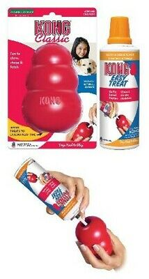 New KONG Classic Red Dog Toy XX Large King PLUS Kong Easy Treat Stuffing Cheese