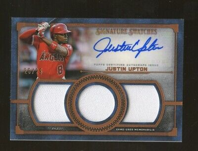 2019 Topps Museum Collection Justin Upton Triple Jersey AUTO 25/25 Angels