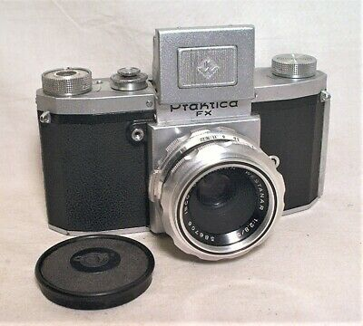 Praktica Fx 35Mm Slr With Isco Westanar 50Mm 2.8 & Cap - Working