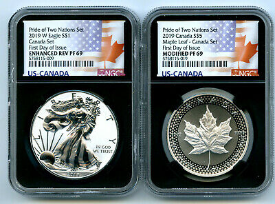 2019 W Canada Rcm Version Pride Of Two Nations Ngc Pf69 Set First Day Issue 10K