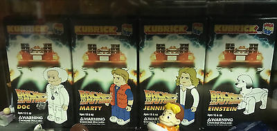 Back to the Future BTTF Figure Series 1 Set Kubrick Medicom Marty, Doc, Einstein