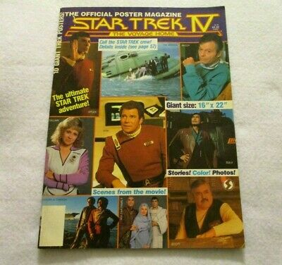 Star Trek IV: The Voyage Home Poster Magazine 1986 ten posters movie scenes