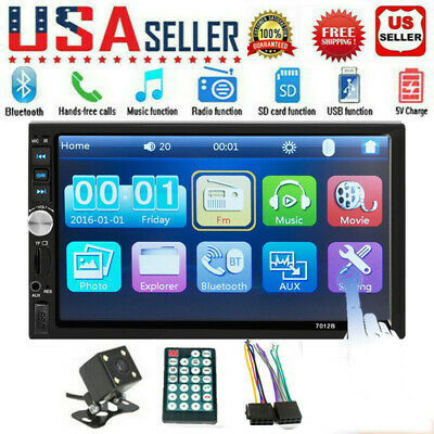 "7"" CAR DOUBLE DIN Car MP5 Player BT Tou+ch Screen Stereo Radio HD+Camera GT"