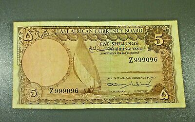 East Africa - 1964 East African States Currency Board 5 Shillings