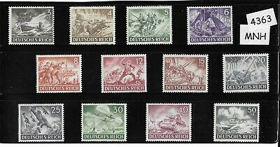 Complete 1943 MNH stamp set / Germany / Armed forces / Military Wehrmacht WWII
