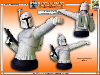 Star Wars Gentle Giant Boba Fett McQuarrie Concept '09 SDCC Exclusive NEW MIB