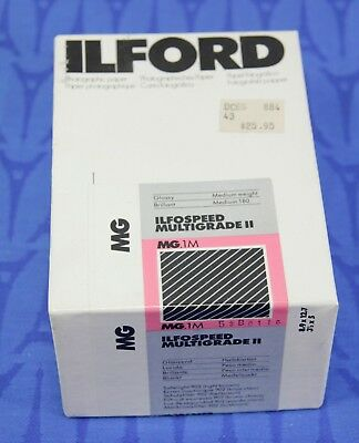 Partial box of 150 ILFORD 3.5 x 5 B&W Paper, IlfoSpeed Multigrade II Glossy