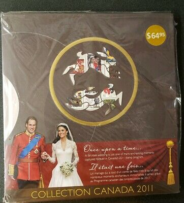 Collection Canada Post Souvenir Stamp Book 2011 Royal Wedding