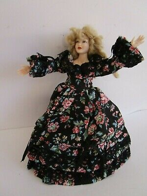 1:12 scale Heidi Ott dressed ball jointed 5.5 inch Victorian lady dollhouse doll