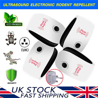 1/2/4/6 Pack Ultrasonic Pest Control Repeller Reject Rat Mouse Mice Spider UK