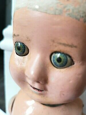 "Vintage/antique creepy Doll. Spooky 21"" tall"