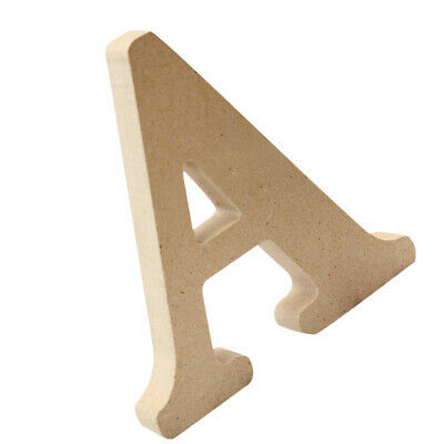 Wooden Alphabet Craft Letters Plaque Wall Hanging Wedding Nursery Decor A