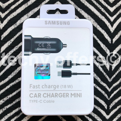 Genuine Samsung Fast USB Car Charger Type-C USB For Galaxy S10 S10+ S9 S8 Note 9