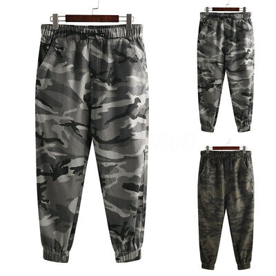 Men's Camo Pants Casual Military Trousers 100% Cotton Cargo Outdoor Trousers New