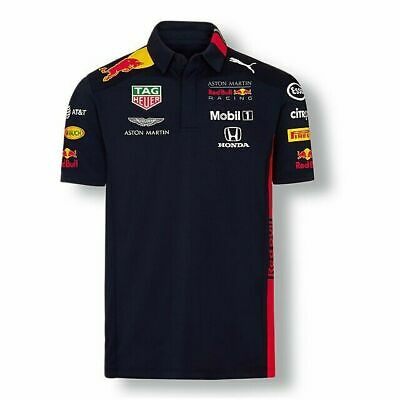 NEW 2019 Racing F1 Team Mens Sport POLO Shirts OFFICIAL Navy Blue Casual T-Shirt