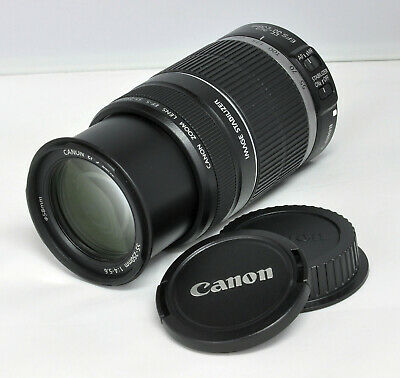 Canon EF-S 55-250mm f/4-5.6 IS Telephoto Zoom Lens for EOS 60D Rebel T7i T3i XSi