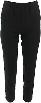 Dennis Basso Textured Pull-On Crop Pants Black 14 NEW A289808