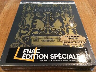 Fantastic Beasts, Crimes Of Grindelwald, Sealed 4K, 3D, Blu Ray French Steelbook