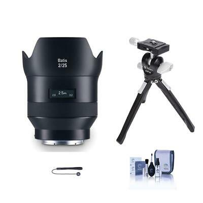 Zeiss 25mm f/2.0 Batis Series Lens for Sony FF E-mount NEX Cameras W/Mini Tripod