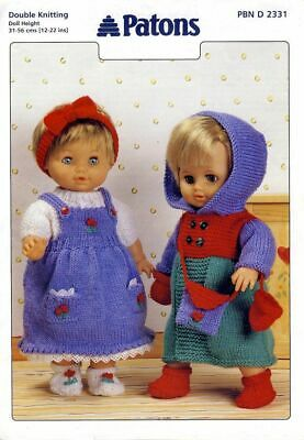 Paton Dolls Knitting Pattern 2331