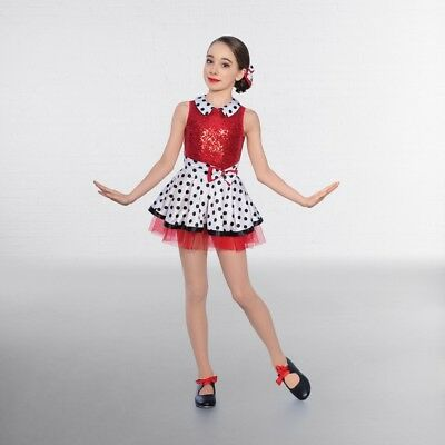 1st Position Red White Sequin Candy Stripe Playsuit