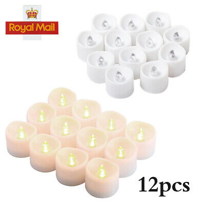 HOT Led Tea Lights with Timer Battery Operated 12X Flickering Flameless Candles