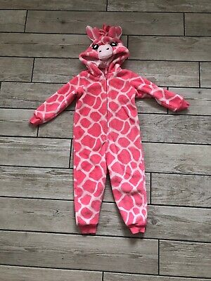 M&S Kids Girls Giraffe Fleece all in one Onesie onesy (not gerber) 2-3 Years
