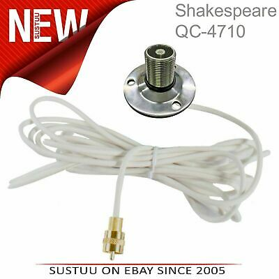 Shakespeare QC 4710│QuickConnect SS Flange Mount with Cable│Use with QC Antenna