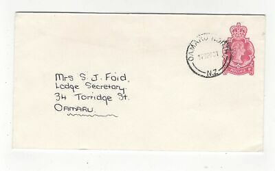 New Zealand Postage Paid Cover 17 Sep 1961 Postmarked Oamaru North 138c