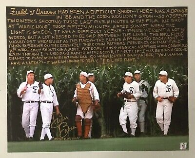 Dwier Brown Signed 16x20 FIELD OF DREAMS Photo Gold Ink Inscription + Hologram