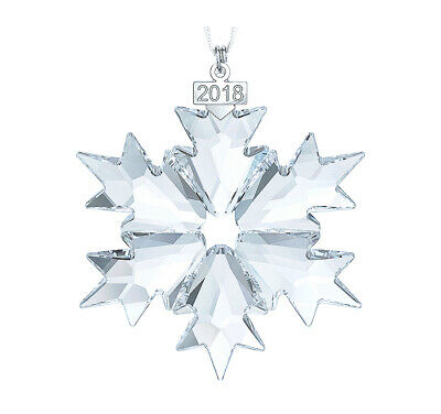 Swarovski Clear Crystal Christmas Ornament 2018 Christmas Snowflake -5301575 New