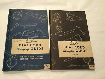Ham Radio 2 Sams Dial Cord Stringing Guides 1938-47 and 1950