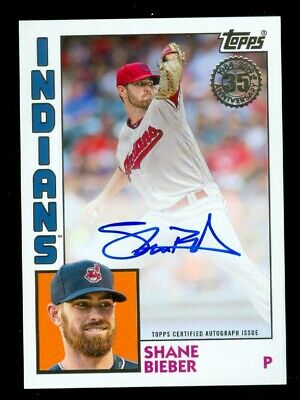 2019 Topps 35th Anniversary Shane Bieber AUTO On-Card Indians SP All-STar HOT!